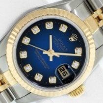 Rolex Lady-Datejust Сталь 26mm Синий Без цифр