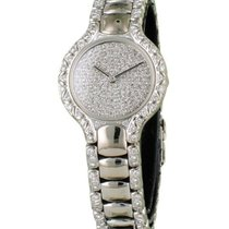 Ebel nouveau Quartz Sertissage de pierres précieuses et de diamants 25mm Or blanc Verre saphir