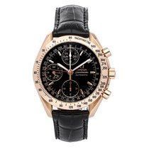 Omega Rose gold Automatic Black No numerals 40mm pre-owned Speedmaster Day Date