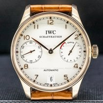 IWC Portuguese Automatic pre-owned Silver Date Fold clasp