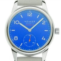 NOMOS Club Neomatik Stal 37mm Arabskie
