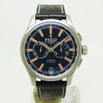 Zenith Acier Remontage automatique Noir 42mm occasion Captain Chronograph
