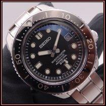 Seiko Marinemaster Steel 44mm Black No numerals