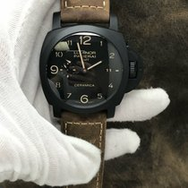 Panerai Luminor 1950 3 Days GMT Automatic pre-owned 44mm Date GMT Leather
