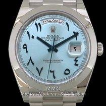 Rolex Platino Automático Azul 40mm usados Day-Date 40