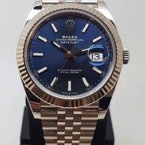 Rolex Datejust Or blanc 41mm Bleu Sans chiffres France, LYON - Tassin La Demi Lune