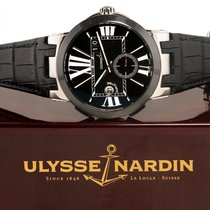 Ulysse Nardin Executive Dual Time Сталь 43mm Черный