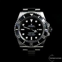 Rolex Submariner (No Date) Acier 41mm Noir Sans chiffres