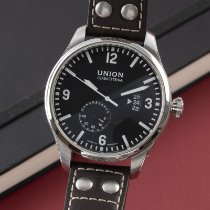 Union Glashütte Belisar Pilot pre-owned 44mm Black Date Leather