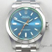 Rolex Milgauss Stahl 40mm Blau Deutschland