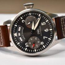IWC Big Pilot Acier 46mm Noir Arabes