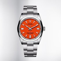 Rolex Oyster Perpetual 36 Steel 36mm Red No numerals United Kingdom, London