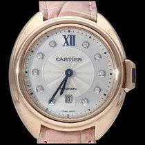Cartier Pозовое золото Автоподзавод Cеребро Без цифр 31mm подержанные Clé de Cartier