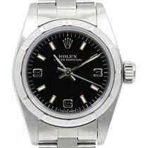 Rolex Oyster Perpetual 26 Acier Noir Arabes