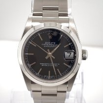 Rolex Steel Automatic Black 31mm pre-owned Lady-Datejust