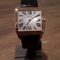 Cartier Santos Dumont Pозовое золото Белый Римские