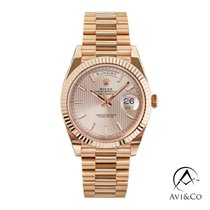 Rolex Day-Date 40 Yellow gold 40mm Pink No numerals United States of America, New York, New York