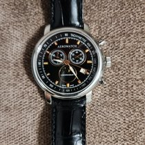 Aerowatch Renaissance pre-owned 42mm Black Leather