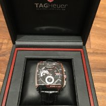 TAG Heuer Monaco Calibre 12 occasion 40.5mm Noir Chronographe Date Plis