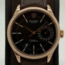 Rolex Cellini Date Ruzicasto zlato 39mm Crn Bez brojeva