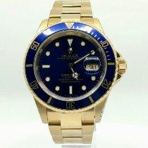 Rolex Submariner Date Gelbgold 40mm Blau Keine Ziffern Schweiz, Genève