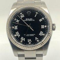 Rolex Oyster Perpetual Steel 36mm Black Arabic numerals