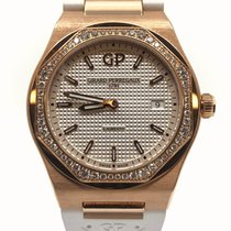 Girard Perregaux Rose gold Quartz Silver 34mm new Laureato
