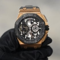 Audemars Piguet Royal Oak Offshore Tourbillon Chronograph Or rose 44mm Noir Arabes