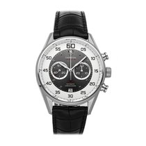 TAG Heuer Carrera Calibre 36 Steel 43mm Silver Arabic numerals United States of America, Pennsylvania