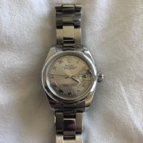 Rolex Steel Automatic Silver Roman numerals 26mm pre-owned Lady-Datejust
