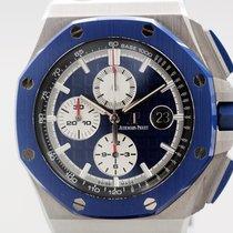 Audemars Piguet Royal Oak Offshore Chronograph Acier 44mm Bleu Sans chiffres