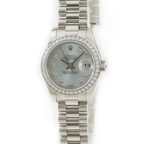 Rolex Remontage automatique Bleu occasion Lady-Datejust
