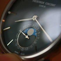Frederique Constant Manufacture Slimline Moonphase Acier 42mm Bleu France, ANNECY