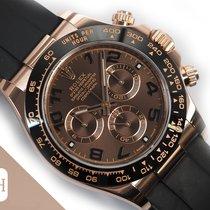 Rolex Daytona Ροζέ χρυσό 40mm Καφέ Αραβικοί