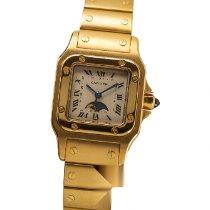 Cartier Желтое золото Кварцевые Cеребро Aрабские 24mm подержанные Santos Galbée