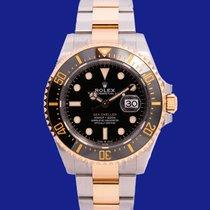 Rolex Sea-Dweller Or/Acier 43mm Noir Sans chiffres