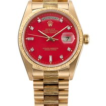 Rolex Day-Date 36 Or jaune Rouge