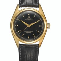 Rolex Bubble Back Oro amarillo 36mm Negro