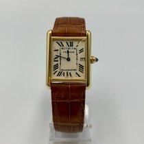 Cartier Tank Louis Cartier Желтое золото Белый Римские