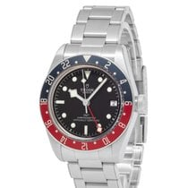 Tudor Steel Automatic Black 41mm pre-owned Black Bay GMT