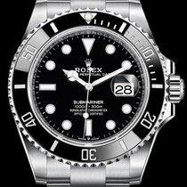 Rolex Submariner Date Сталь 41mm Черный Без цифр