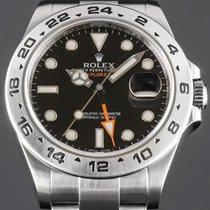 Rolex Explorer II Сталь 42mm Черный Без цифр