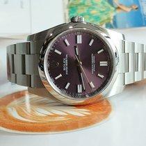 Rolex Oyster Perpetual 36 Steel 36mm Purple Arabic numerals India, Mumbai,