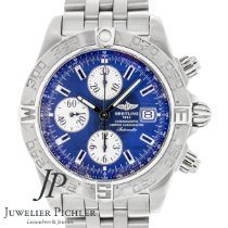 Breitling Galactic Steel 44mm Blue No numerals