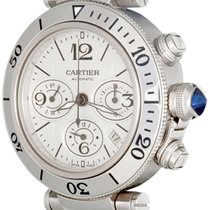 Cartier Pasha Seatimer Steel 41.5mm Silver Arabic numerals United States of America, Texas