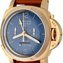 Panerai Rose gold Manual winding Blue Arabic numerals 44mm pre-owned Special Editions