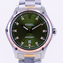 Ebel Discovery Yellow gold 33mm Green Roman numerals