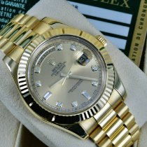 Rolex Day-Date II Yellow gold 41mm Gold Roman numerals United States of America, Michigan, Detroit