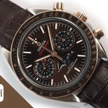 Omega Speedmaster Professional Moonwatch Moonphase Or/Acier 44.25mm Brun