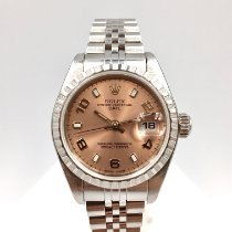 Rolex Oyster Perpetual Lady Date Сталь 26mm Розовый Без цифр